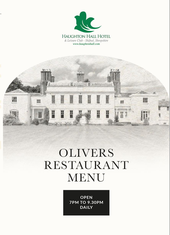 Olivers Restaurant Menu